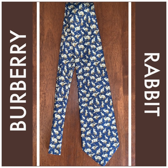 Burberry Other - BURBERRY Rabbit Pattern Mens Silk Tie